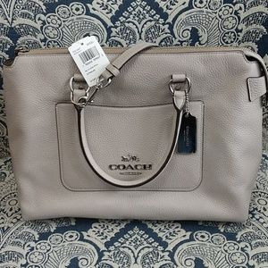 Coach Leather Emma Satchel NWT